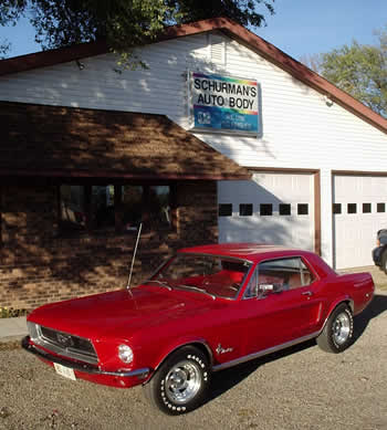 1968 Mustang restored by Dave Schurman and Staff
